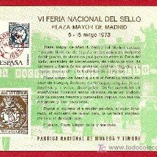Timbres: 1973 TARJETA VI FERIA NACIONAL DEL SELLO. Lote 14779565