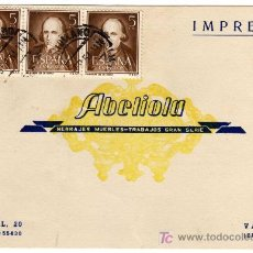 Sellos: TARJETA POSTAL COMERCIAL - BRONCES ABELIOLA - HERRAJES - MUEBLES - BENIMACLET (VALENCIA). Lote 21290181