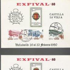 Selos: PAREJA DE TARJETAS NUMERADA DE CASTILLA LA VIEJA CON SERIE COMPLETA Y MATASELLOS . Lote 16169116
