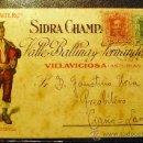Sellos: ESPAÑA. CARTA DE PROPAGANDA SIDRA EL GAITERO VILLAVICIOSA ASTURIAS. PRECIOSA . Lote 26277199