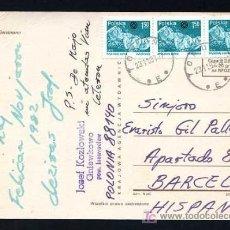 Sellos: POLONIA. TP CIRCULADA 1981.. Lote 17605201
