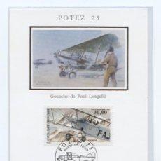 Sellos: AEROFILATELIA. FRANCIA. YVERT AEREO 62.AVION POTEZ 25.. Lote 17856125