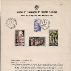 Stamps - COMISION DE PROGRAMACION DE EMISIONES FILATELICAS EMISION MONASTERIO 1973 SANTO DOMINGO DE SILOS - 18295721