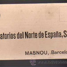 Sellos: TARJETA COMERCIAL -LABORATORIOS DEL NORTE DE ESPAÑA SA MASNOU 1943. Lote 19446408