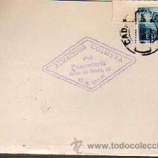 Sellos: TARJETA COMERCIAL -ALMACENES COIMBRA -PAQUETERIA -CADIZ 1970. Lote 19446843