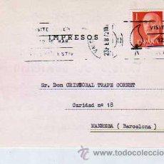 Sellos: TARJETA COMERCIAL - CONFECCIONES SELECTAS ENRIQUE RIBERA TORRES, DE VALENCIA. 1972. Lote 20503223