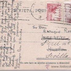 Sellos: TARJETA POSTAL DE SEVILLA A HUELVA. 1946.. Lote 21296004
