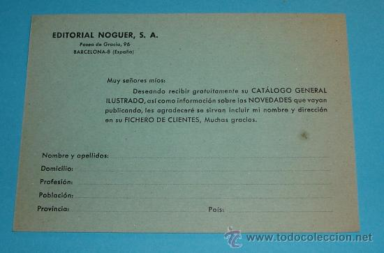 Sellos: TARJETA EDITORIAL NOGUER - Foto 2 - 22231564
