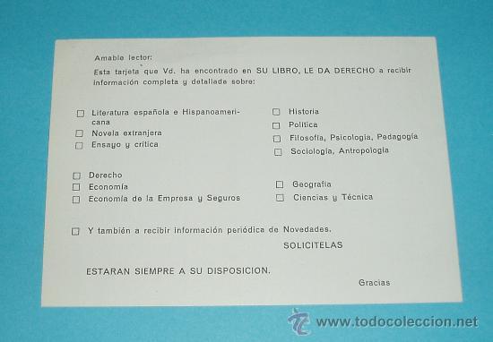 Sellos: TARJETA POSTAL EDITORIAL ARIEL. EDITORIAL SEIX BARRAL. BARCELONA - Foto 2 - 22377105