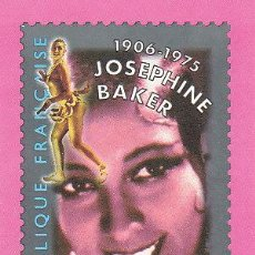 Sellos: FRANCIA, TARJETA QUE REPRODUCE EL SELLO SOBRE JOSEPHINE BAKER, DETRAS EMISIONES 2º SEMESTRE 1994. Lote 22389731