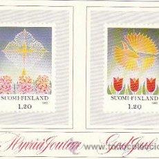 Sellos: FINLANDIA, POSTAL QUE REPRODUCE LOS SELLOS DE NAVIDAD 1985. Lote 22389750