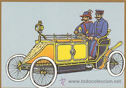 TARJETA POSTAL DE UN COCHE DE CORREOS EN BERLIN HACIA 1900 (Sellos - Extranjero - Tarjetas)
