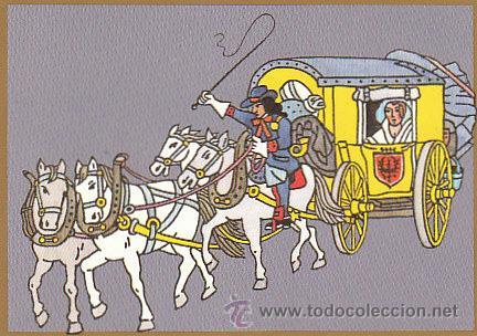 TARJETA POSTAL DE UNA DILIGENCIA MIXTA DE CORREOS DE ALEMANIA HACIA 1700 (Sellos - Extranjero - Tarjetas)