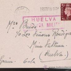 Sellos: TAEJETA POSTAL DE LONDRES A MINA LA SULTANA (HUELVA).DE 12 FEB.1938.FRANQUEADA CON SELLO 211. Lote 22570701