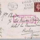 Sellos: TARJETA POSTAL DE GUILDFORD A HUELVA. DE 5 SEP.1939. CON SELLO 211 Y CENSURA MILITAR DE HUELVA.. Lote 22570783