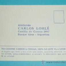 Sellos: TARJETA POSTAL EDICIONES CARLOS LOHLÉ. ARGENTINA. Lote 22653732