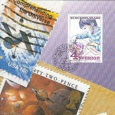 Sellos: SUECIA IVERT 1360, 350 ANIVERSARIO CORREO SUECO (EL COLECCIONISMO JUVENIL), MÁXIMA DE 23-1-1986. Lote 25435843