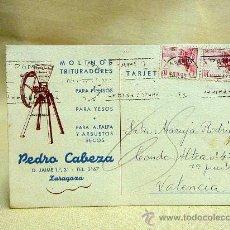 Sellos: TARJETA POSTAL, PEDRO CABEZA ZARAGOZA, CIRCULADA, VALENCIA, AÑO 1942. Lote 25735200