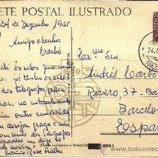 Sellos: TARJETA POSTAL CIRCULADA ANTIGUA - BARCELONA, 24 DE DICIEMBRE DE 1955 . Lote 26199130