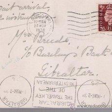Sellos: CARTA DE LONDRES A GIBRALTAR.DE 28-NOV.193 CON SELLO Nº 211,MATASELLADO CON RODILLO DE LONDRES Y . Lote 26733592