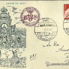 Sellos: TARJETA POSTAL - XXV FERIA OFICIAL E INTERNACIONAL DE MUESTRAS - BARCELONA 1957. Lote 27353204