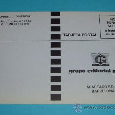 Sellos: TARJETA POSTAL GRUPO EDITORIAL GRIJALBO. F.D. AUTORIZACIÓN Nº 6442. Lote 27523370