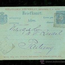 Sellos: TARJETA. BRIEFKAART. BATAVIA. NED. INDIE. PADANG. 1897. . Lote 28587127