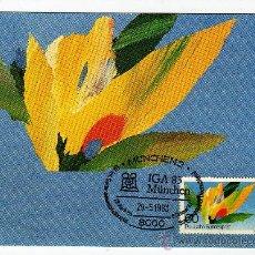 Stamps - TARGETA POSTAL IGA 83 München CON SELLO Y MATASELLO alemania 1983 - 28946248