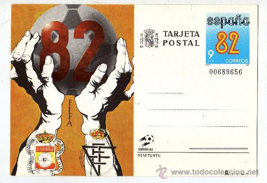 TARJETA POSTAL ESPAÑA 82 CORREOS NUMERADA (Sellos - Extranjero - Tarjetas)