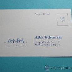 Sellos: TARJETA POSTAL ALBA EDITORIAL. BARCELONA. Lote 28960833