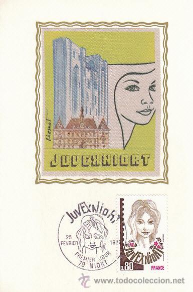 FRANCIA IVERT 2003, JUVENIORT, FILATELIA JUVENIL, TARJETA MAXIMA DE 25-2-1978 (Sellos - Extranjero - Tarjetas Máximas)