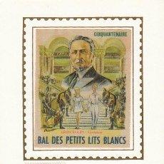 Sellos: FRANCIA IVERT 1575, 75 ANIVº DE LA ASOCIACIÓN PEQUEÑAS CAMAS BLANCAS (NIÑOS), MÁXIMA DE 25-10-1968. Lote 30536007