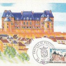 Sellos: FRANCIA IVERT 1596, CASTILLO DE HAUTEFORT EN LA DORDOGNE, TARJETA MÁXIMA DE 5-4-1969. Lote 30536457