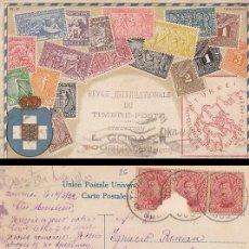 Sellos: TARJETA POSTAL DE LA REVISTA INTERNACIONAL DE SELLOS DE BELGICA, CIRCULADA EN 1922. Lote 30539632
