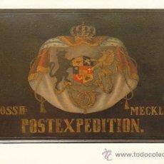 Sellos: POSTAL DEL MUSEO DEL CORREO DE ALEMANIA EN FRANKFURT, LETRERO EN MECKLENBUR EN 1850, . Lote 30539715