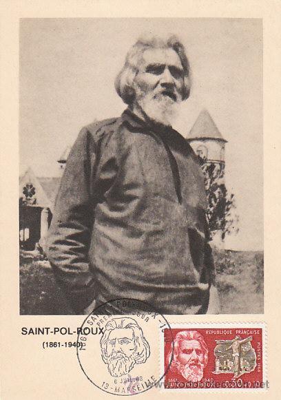 FRANCIA IVERT 1552, SAIN POL ROUX, POETA SIMBOLISTA, TARJETA MÁXIMA DE 6-7-1968 (Sellos - Extranjero - Tarjetas Máximas)