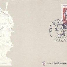 Sellos: FRANCIA IVERT 1512, BEAUMARCHAIS, TARJETA MAXIMA DE 4--2-1967. Lote 30598725
