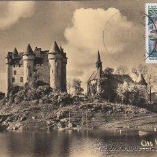Sellos: FRANCIA IVERT 1506, CASTILLO DE VAL, TARJETA MAXIMA DE 10-11-1966. Lote 30598954
