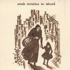 Sellos: FRANCIA IVERT 1253, AÑO MUNDIAL DEL REFUGIADO, TARJETA MÁXIMA DE 7-4-1960. Lote 30644827