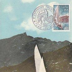 Sellos: FRANCIA IVERT 1436, AIX LES BAINS, TARJETA MÁXIMA DE 19-7-1965. Lote 30644913