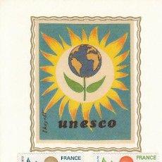 Sellos: FRANCIA SERVICIO UNESCO IVERT 50/2, TARJETA MÁXIMA DE 23-10-1976. Lote 30681484
