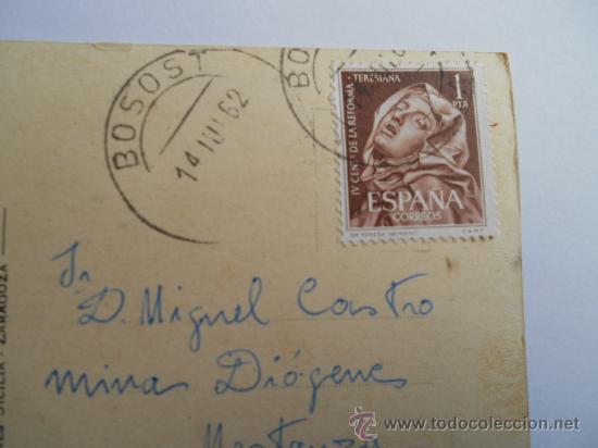 Sellos: postal de zaragoza circulada en 1962 con sello - Foto 2 - 30686155