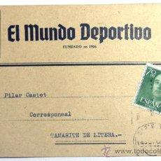 Sellos: TARJETA COMERCIAL EL MUNDO DEPORTIVO / BARCELONA 1960. Lote 34707820