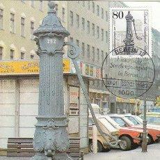 Sellos: ALEMANIA BERLIN IVERT 652, POMPA DE AGUA DE LA CALLE SCHLOSS (BERLIN 1900) MÁXIMA DE 13-1-1983. Lote 35775351