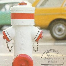 Sellos: ALEMANIA BERLIN IVERT 651, POMPA DE AGUA DE LA PLAZA CHAMISSO (BERLIN 1900) MÁXIMA DE 13-1-1983. Lote 31953699