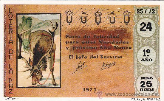 MANUEL BETHENCOURT ATTIAS SANTA CRUZ DE TENERIFE CANARIAS BONITA Y RARA TARJETA 1973 LOTERIA PAZ MPM (Sellos - España - Tarjetas)