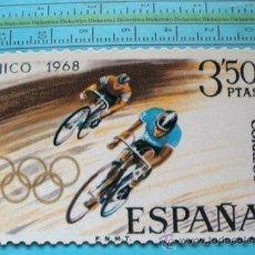 Sellos: TARJETA POSTAL. SELLO GIGANTE CORREOS ESPAÑA. AÑO 1999. CICLISMO, JUEGOS OLÍMPICOS MÉXICO. 26. . Lote 31577662
