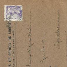 Sellos: TARJETA DE PEDIDO DE LIBRERÍA - M. AGUILAR EDITOR Y LIBRERO MADRID - MATASELLOS 9-MAR-42. Lote 31759179