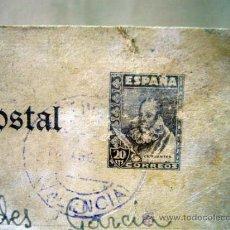 Sellos: TARJETA POSTAL, 1942, VALENCIA, SELLO DE 20 CENTIMOS. Lote 32378620