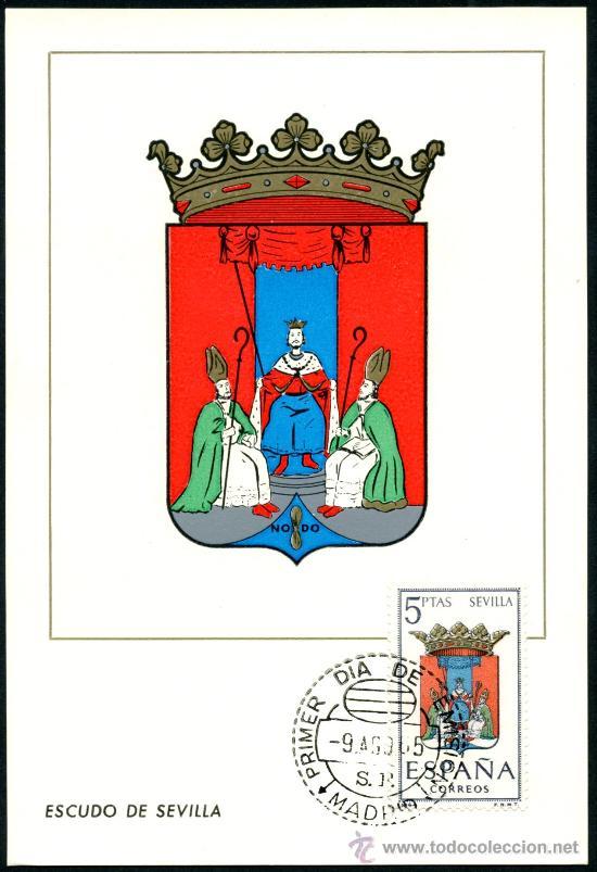 POSTAL – ESCUDO DE SEVILLA 1965 (Sellos - España - Tarjetas)